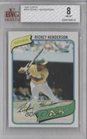Rickey Henderson [BVG 8 NM‑MT]