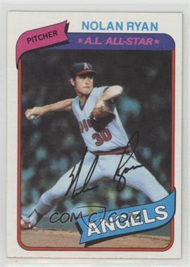 1980 Topps - [Base] #580 - Nolan Ryan