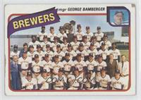 Milwaukee Brewers Team (George Bamberger) [GoodtoVG‑EX]