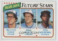 Blue Jays Future Stars (Butch Edge, Pat Kelly, Ted Wilborn)