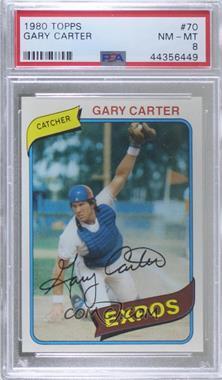1980 Topps - [Base] #70 - Gary Carter [PSA8NM‑MT]