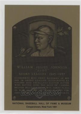 1981-89 Metallic Hall of Fame Plaques - [Base] #JUJO - Judy Johnson