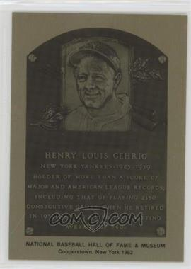 1981-89 Metallic Hall of Fame Plaques - [Base] #LOGE - Lou Gehrig