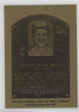 1981-89 Metallic Hall of Fame Plaques - [Base] #STMU - Stan Musial
