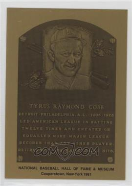 1981-89 Metallic Hall of Fame Plaques - [Base] #TYCO - Ty Cobb