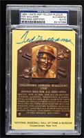 Ted Williams (Looking forward) [PSA/DNA Certified Encased]