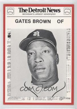 1981 Detroit News Detroit Tigers Boys of Summer 100th Anniversary - [Base] - Red Border #106 - Gates Brown