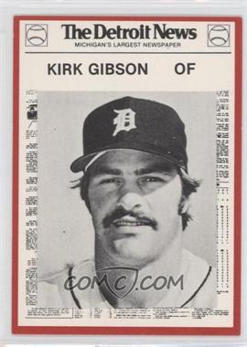 1981 Detroit News Detroit Tigers Boys of Summer 100th Anniversary - [Base] - Red Border #20 - Kirk Gibson