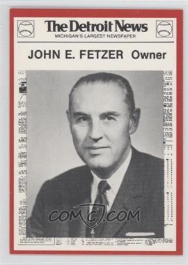 1981 Detroit News Detroit Tigers Boys of Summer 100th Anniversary - [Base] #81 - John Ferguson