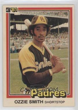 1981 Donruss - [Base] #1 - Ozzie Smith