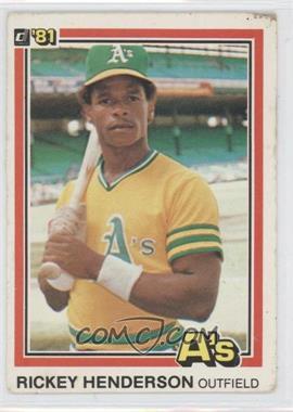 1981 Donruss - [Base] #119 - Rickey Henderson