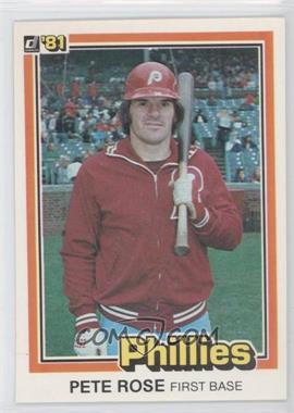 "1981 Donruss - [Base] #131.1 - Pete Rose (""…see card 251"" on Back)"