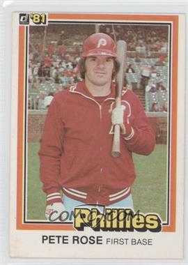 "1981 Donruss - [Base] #131.1 - Pete Rose (""…see card 251"" on Back)"