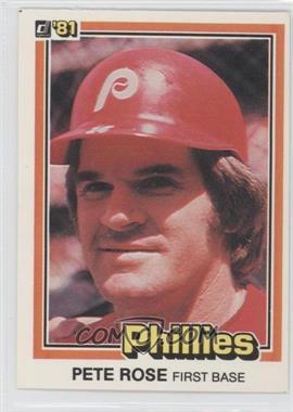 1981 Donruss - [Base] #371 - Pete Rose