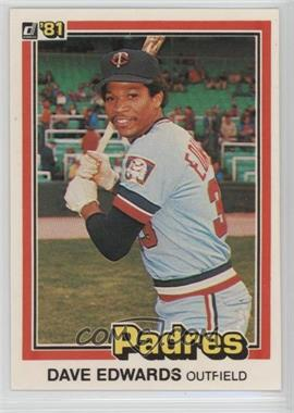 1981 Donruss - [Base] #595.1 - Dave Edwards (1980: 3 Lines of Text)