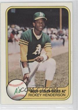 1981 Fleer - [Base] #351 - Rickey Henderson