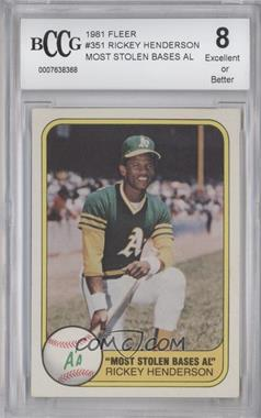 1981 Fleer - [Base] #351 - Rickey Henderson [ENCASED]