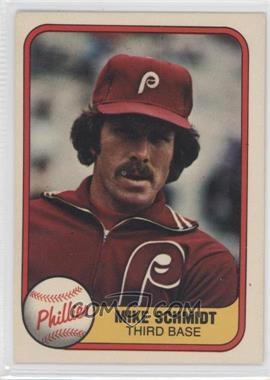 1981 Fleer - [Base] #5.1 - Mike Schmidt (Portrait)
