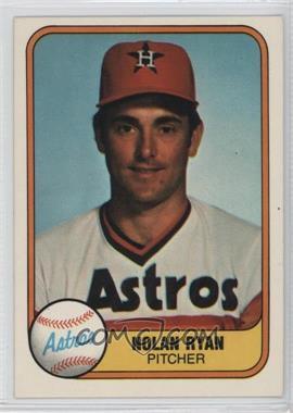 1981 Fleer - [Base] #57 - Nolan Ryan