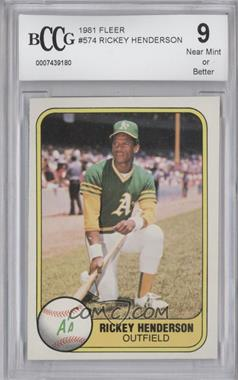 1981 Fleer - [Base] #574 - Rickey Henderson [ENCASED]