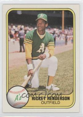 1981 Fleer - [Base] #574 - Rickey Henderson