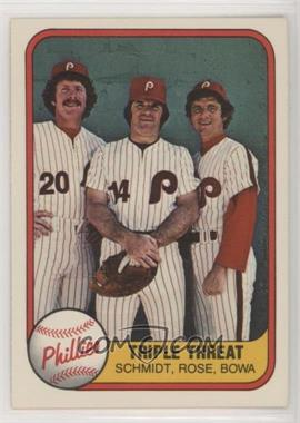 1981 Fleer Base 6451 Triple Threat Mike Schmidt Pete Rose
