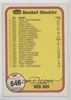 Checklist (Boston Red Sox, Atlanta Braves)