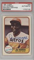 Joe Morgan [PSA/DNA Certified Auto]