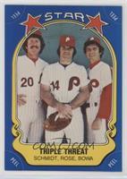 Mike Schmidt, Pete Rose, Larry Bowa