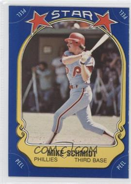 1981 Fleer Star Stickers - [Base] #9.1 - Mike Schmidt (bat swinging)