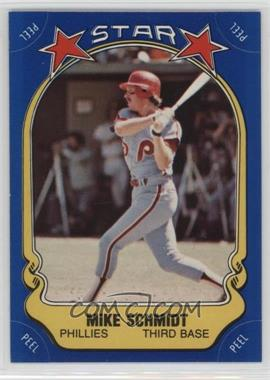 1981 Fleer Star Stickers - [Base] #9.1 - Mike Schmidt (bat swinging)