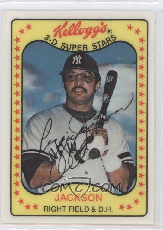 1981 Kelloggs 3 D Super Stars Base 3 Reggie Jackson