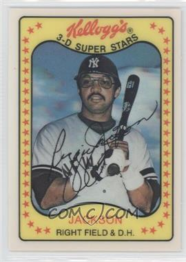 1981 Kellogg's 3-D Super Stars - [Base] #3 - Reggie Jackson - Courtesy of COMC.com