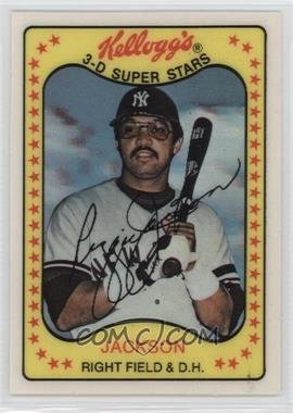 1981 Kellogg's 3-D Super Stars - [Base] #3 - Reggie Jackson
