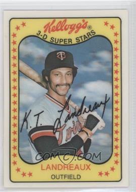 1981 Kelloggs 3 D Super Stars Base 30 Ken Landreaux