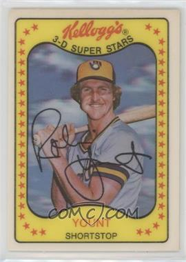 1981 Kellogg's 3-D Super Stars - [Base] #57 - Robin Yount
