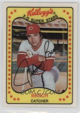1981 Kellogg's 3-D Super Stars - [Base] #65 - Johnny Bench