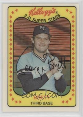 1981 Kellogg's 3-D Super Stars - [Base] #8 - George Brett