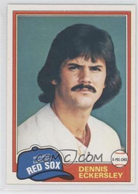 1981 O-Pee-Chee - [Base] #109 - Dennis Eckersley