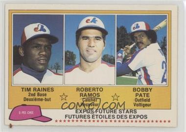 1981 O-Pee-Chee - [Base] #136 - Tim Raines, Bob Pate, Roberto Ramos