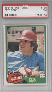 1981 O-Pee-Chee - [Base] #180 - Pete Rose [PSA 7]