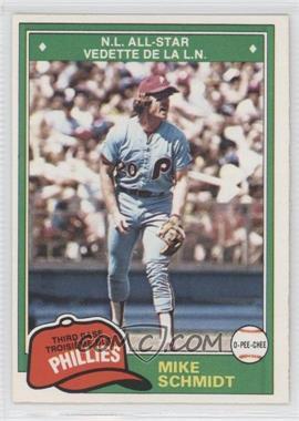 1981 O-Pee-Chee - [Base] #207 - Mike Schmidt