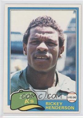 1981 O-Pee-Chee - [Base] #261 - Rickey Henderson