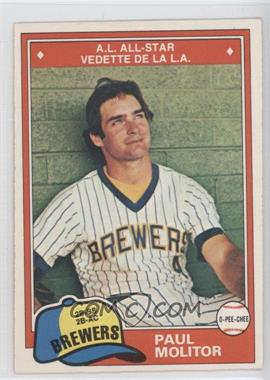 1981 O-Pee-Chee - [Base] #300 - Paul Molitor