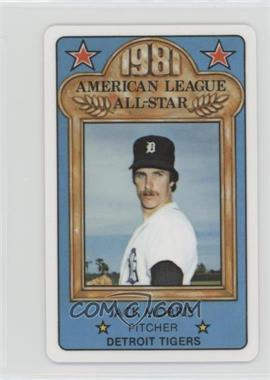 1981 Perma-Graphics/Topps Credit Cards - All-Stars #150-ASA8115 - Jack Morris