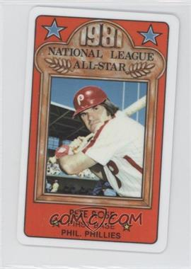 1981 Perma-Graphics/Topps Credit Cards - All-Stars #150-ASN8107 - Pete Rose