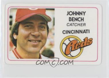 1981 Perma-Graphics/Topps Credit Cards - [Base] #125-001 - Johnny Bench