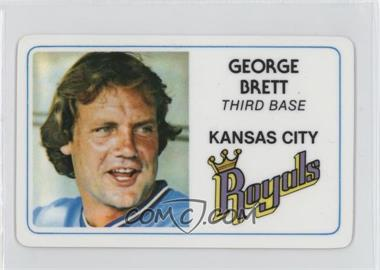 1981 Perma-Graphics/Topps Credit Cards - [Base] #125-003 - George Brett