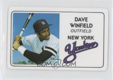 1981 Perma-Graphics/Topps Credit Cards - [Base] #125-021 - Dave Winfield