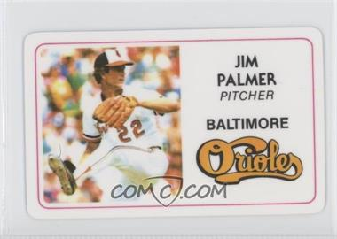 1981 Perma-Graphics/Topps Credit Cards - [Base] #125-028 - Jim Palmer